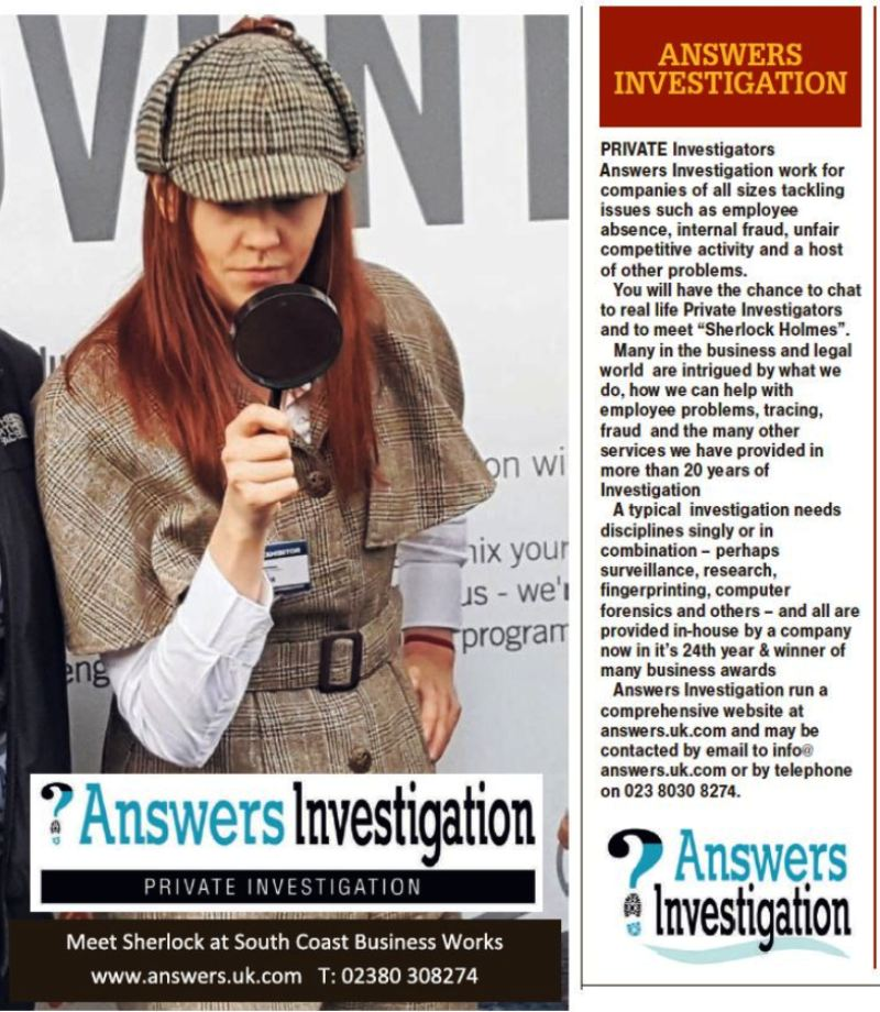 Southampton Daily Echo South Coast Business Works exhibition Private Investigator
