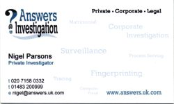 Private Detective Nigel Parsons