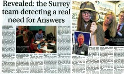 Revealed - the Surrey team detecting a need for Answers' - reporter Chris McKeown spends time with Private Investigators Answers Investigation