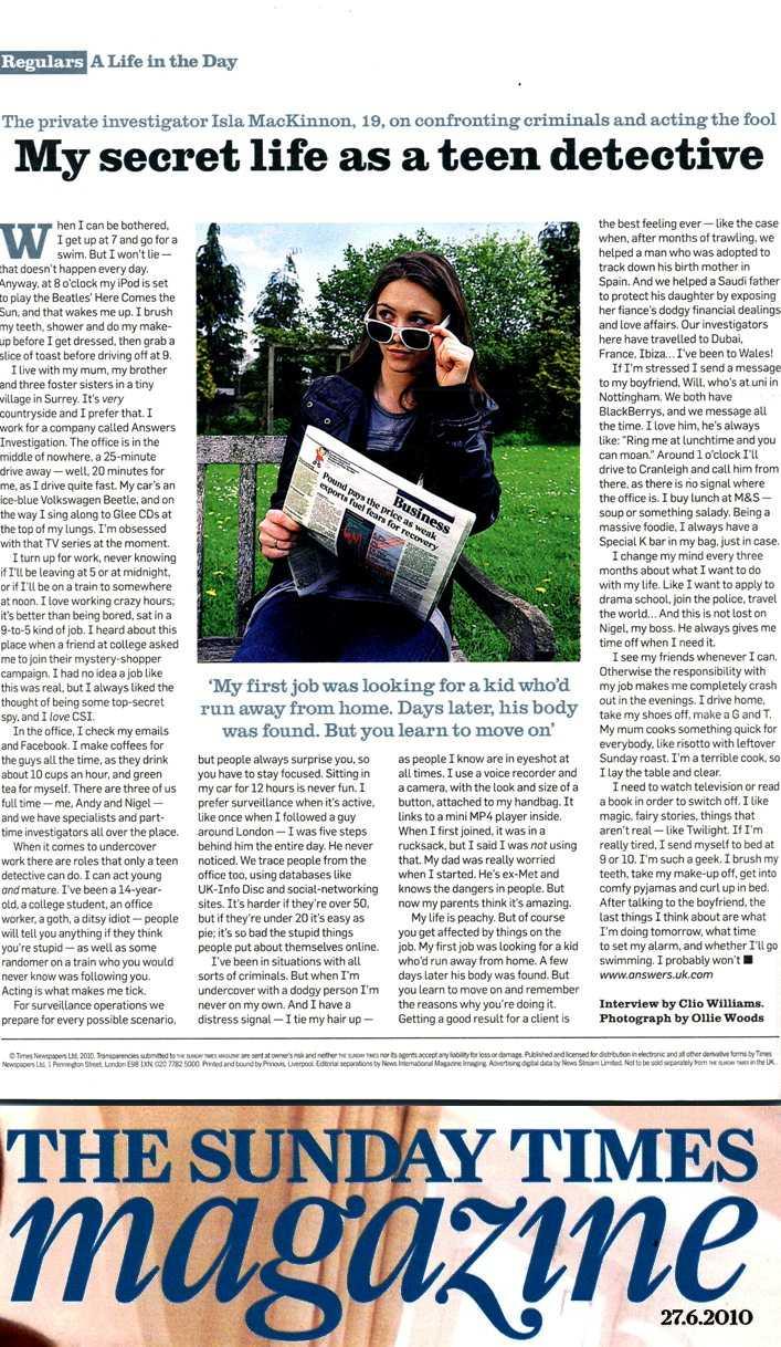 sunday times newspaper
